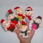 Fantoche De Dedo Familia Natal Dedoche Brinquedo Pedagógico