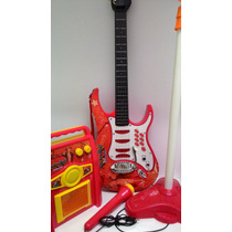 Kit Infantil Guitarra Microfone Amplificador Entrega Rapida