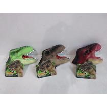 Dino Fantoche Dtc 3 Unidades - Fantoche De Mão Dinossauro.