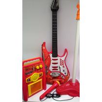 Kit Infantil Guitarra Microfone Amplificador Sedex Grátis