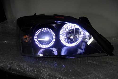 Farol Do Astra 2003 2011 Super Black Angel Eyes De Led´s
