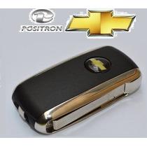 Chave Canivete Gm Positron Metal Cromado Astra Celta Prisma