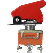 Chave Botão Caça Vermelho P/ Som Turbo Strobo Neon Tuning