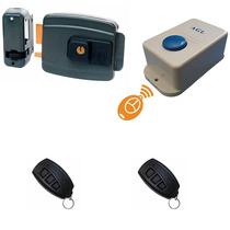 Kit Acionador Por Controle + Fechadura Elétrica + 2 Controle