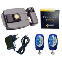 Kit Fechadura Eletrônica + Receptora + 2 Controles + Fonte
