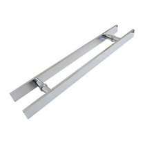 Puxador Retangular Aluminio 60cm X 40cm P/ Porta De Madeira