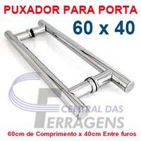 Puxador Tubular Aluminio 60cm X 40cm Para Porta De Madeira