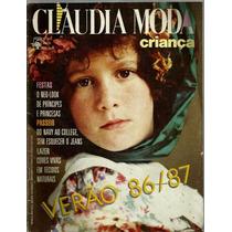 462 Rvt- 1986 Revista Claudia Moda- 035-a Set- Criança Verão