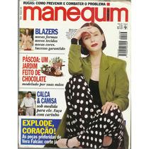 063 Rvt- Revista Moda Manequim 436 Abr 1996 Maria L Mendonça
