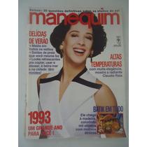 Manequim #397 Ano 1993 Cláudia Raia - Explicações E Moldes