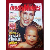 Revista Moda Moldes Glória Pires Estrela Da Tv Brasileira