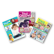 Lote De 3 Revistas - Trico Crochê Bebê Infantil - Artesanato