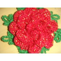 Flor De Escama Em Croche Para Tapetes