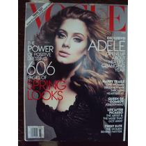 Revista Importada Vogue Eua Março 2012 Capa Adele
