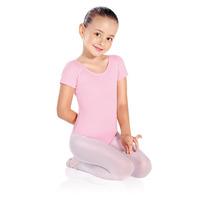 Collant Infantil P/ Ballet Só Dança Em Helanca - Manga Curta