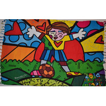 Canga Original Romero Britto - The Hug - Abraço