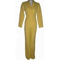 Terninho Calça E Casaco Cor Amarelo Veste 40
