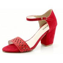 Sandália Glamm Lux Vermelha - Sapatos Mania