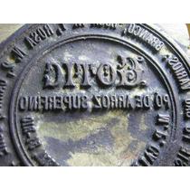 Grande Carimbo Clichê Antigo Pó De Arroz Gotic Perfumaria
