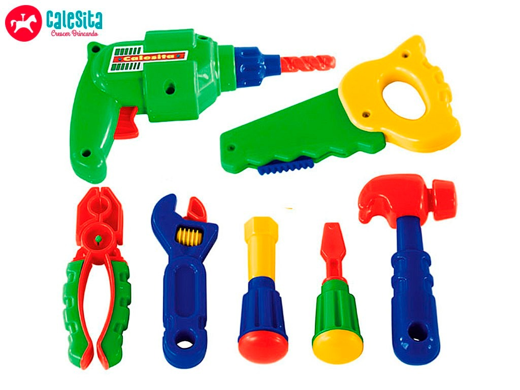 Ferramentas Bancada Brinquedo Oficina Infantil Calesita 450 R$ 174  #00B126 1024x768