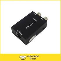 Balun Rj45 Para Bnc Femea Conversor E1t1 Rede Telefonica