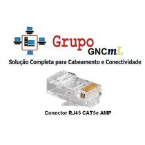30x Conector Macho Rj 45 Cat5e Amp . 1075
