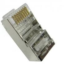 Conector Blindado Rj45 8 Vias Cat 5e Pacote Com 1000 Pçs +nf
