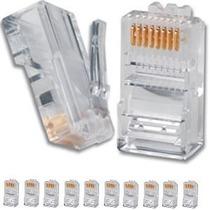 Pacote 100 Unidades Conector Plug Rj45 Cab Rede Lan Internet