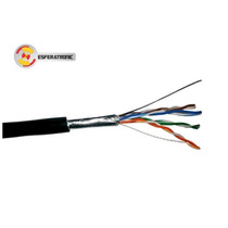 Cabo De Rede Lan Blindado Ftp Cat 5e Preto 100 Mts Fox Cable