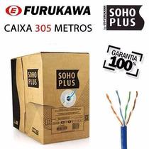 Caixa Cabo Rede Furukawa Soho Plus Cat5e 305 Metros