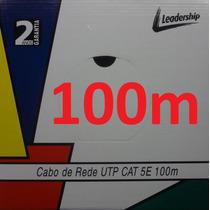 Cabo Rede Cat5e Azul 100m Cat5-e Cat-5e Internet Leadership