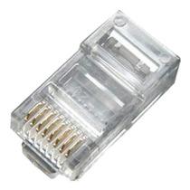 Pacote C/100 Conector Rj-45 Cat5e! R$ 15,99 - Banho De Ouro!