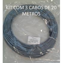 Kit Com 3 Cabos De Rede Patch Cord Cat6 Rj45 20 Mts - Nexans