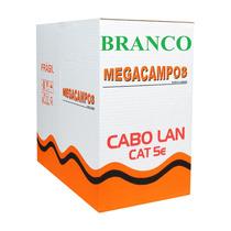 Cabo Rede Cat5e Branco 300m Cat5-e Cat-5e Caixa Megacampos