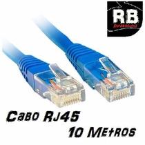 Cabo De Rede Cat5e Rj45 10 Metros ( Preto Ou Azul)