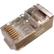 Conector Rj45 Cat6 Blindado Pacote Com 50pçs Plug Cat6