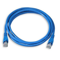 Cabo Rede Montado Pronto P/ Uso De Internet Cor Azul 30 Mts
