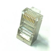 Conector Blindado Rj45 8 Vias Cat 5e Pacote Com 100 Peças