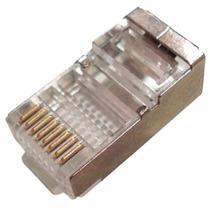 Conector Blindado Rj45 8 Vias Cat 5e Pacote Com 100 Peças Nf