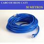 Cabo De Rede Ethernet 30 Metros Internet Montado P/ Uso Rj45