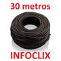 Cabo Rede Cat5e Preto 30m Metros Internet Pronto Usar Uso