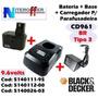 Bateria + Carregador + Base Orig Cd961 Br Tipo3 Black&decker