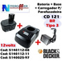 Bateria + Carregador + Base Orig Cd121 Br Tipo3 Black&decker