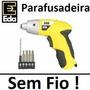 Parafusadeira Profissional Elétrica Sem Fio 110v 4,8v