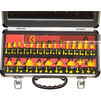 Fresas Para Tupia Manual (jogo C/ 24pç) 6mm - Pro0024