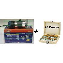 Tupia Fresa Manual 6mm 650 Watts - 110 V + Jogo De Fresas