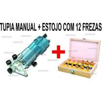 Tupia Manual + 12 Fresas Peças 6mm Acm Laminados Mdf 110v