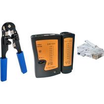 Alicate Crimpar Rj 11 Rj 45 + Testador + 100 Plug Rj 45