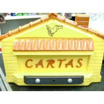 Caixa Cartas Correio Power Plastico Grade Amarelo Casinha