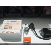 Módulo De Ignição/bobina + Vela Motosserra Stihl Ms 170/180